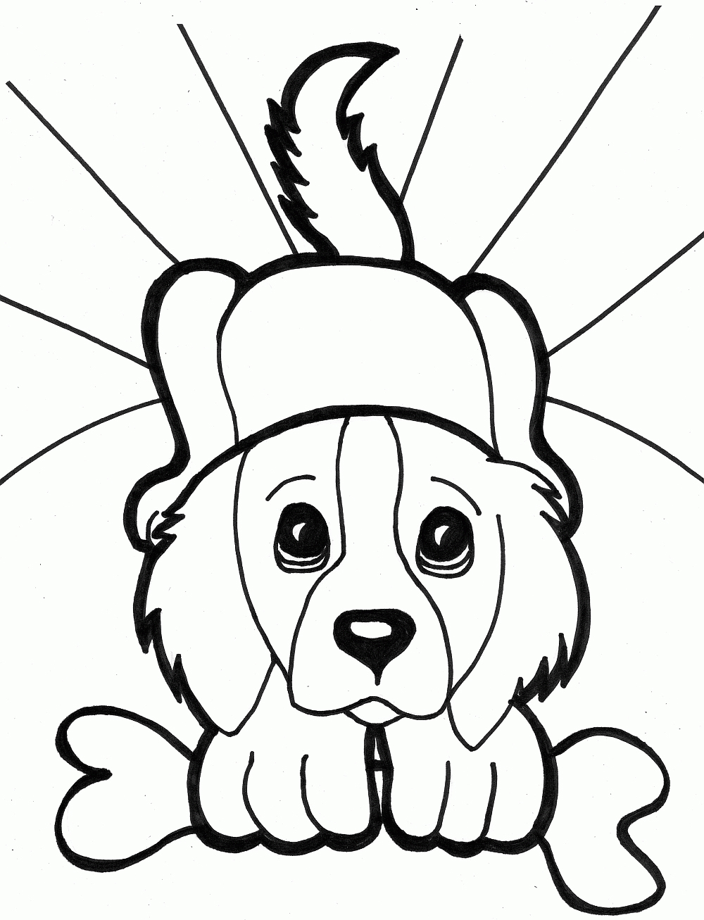 Cute Kittens And Puppies Coloring Pages