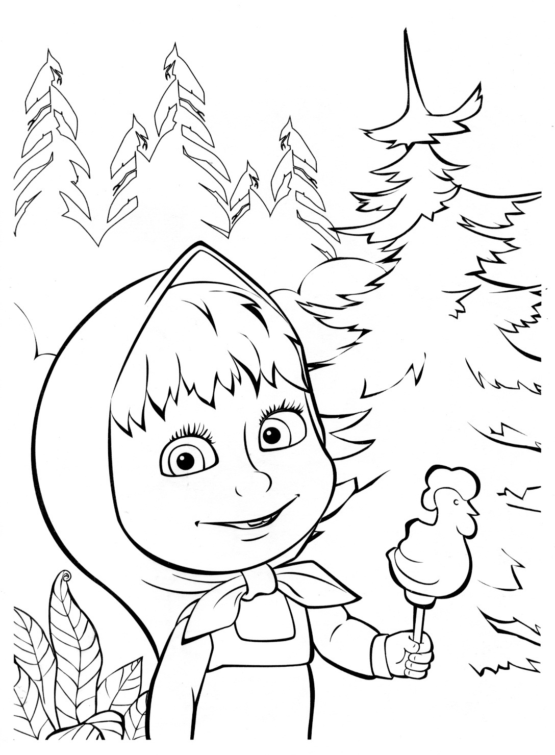masha i medved coloring pages - photo#9
