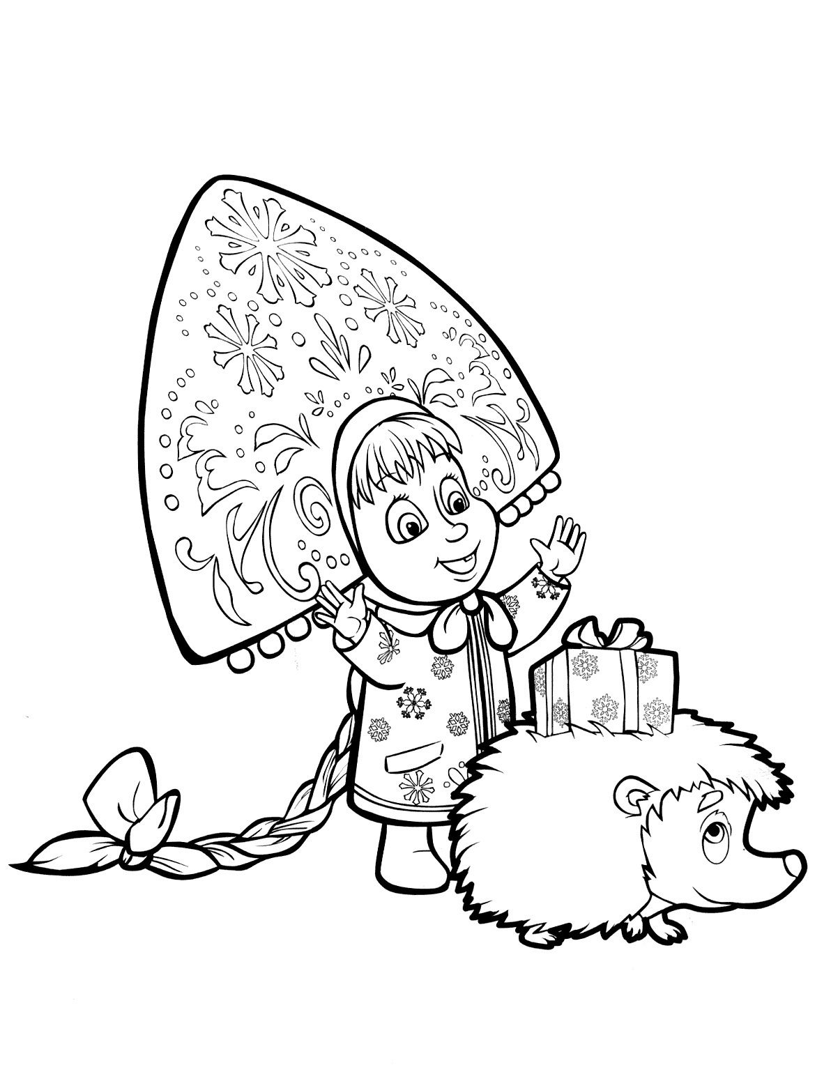 masha i medved coloring pages - photo#29