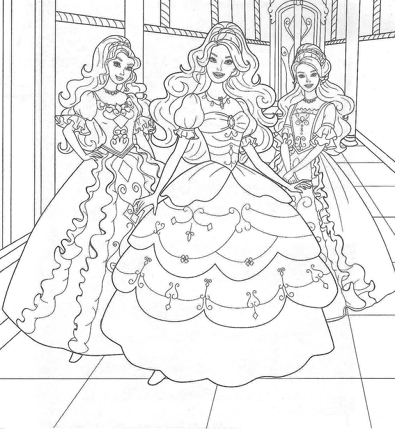 Coloring Pages Barbie And The Secret Door :
