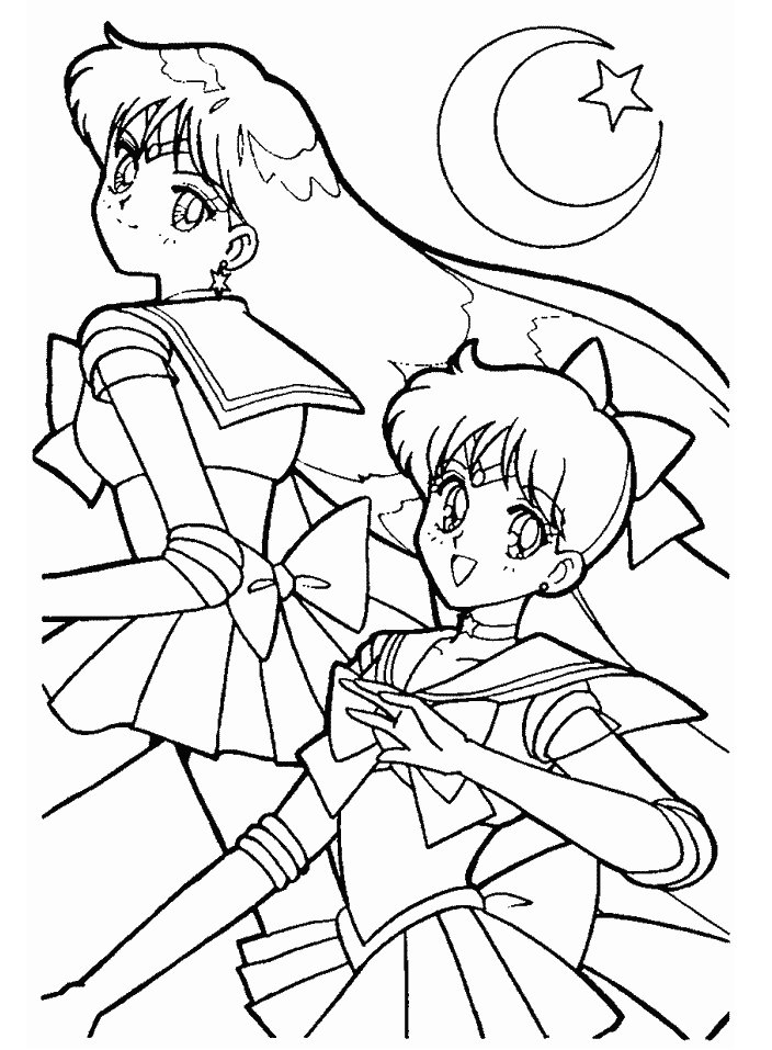 for Sailor mars coloring pages