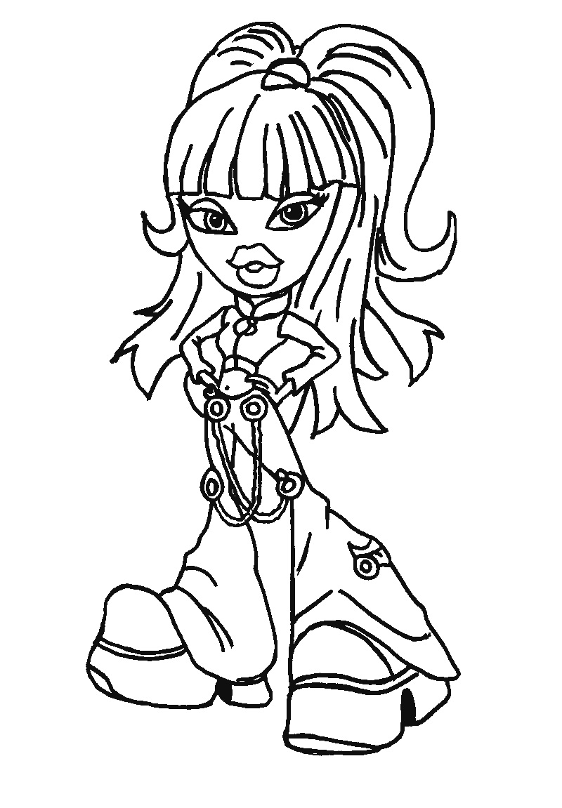 bratz coloring pages yasmin and her peter | Братц